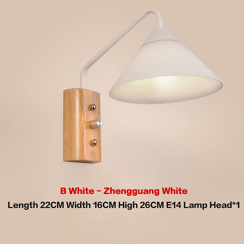 GXY Wandleuchte Nordic Holz Kreatives Schlafzimmer Wandleuchte Nachttischlampe Einfache Holzflurlampe Eisenbahnlampe Treppenlicht Wandlampe (gre   C)