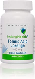 Seeking Health | Folinic Acid Lozenge | 60 Lozenges | Folic Acid 800 mcg | Vitamin Lozenge