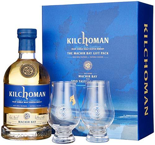 Kilchoman Machir Bay mit Geschenkverpackung mit 2 Gläser Whisky (1 x 0.7 l)
