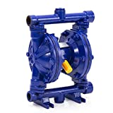 Cozyel 12 GPM Air-Operated Air Diaphragm Double Diaphragm Pump Cast Iron 115 PSI, Dual Diaphragm Air Pump Petroleum Fluids 1/2 inch Inlet/Outlet QBK-15