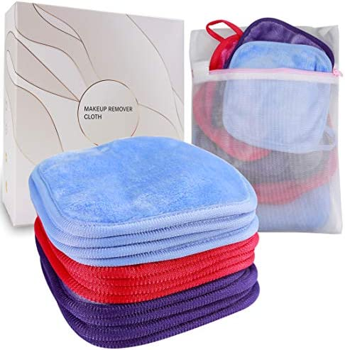 KODAMO Reusable Makeup Remover Cloth 6 x 6 in 12 Pack Microfiber Washable Facial Cleansing Towel product image