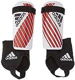 adidas Youth X Youth Shinguard, White/Red, Medium