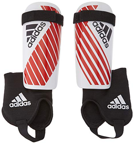 adidas Youth X Youth Shinguard, White/Red, Medium