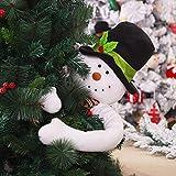 Árbol de Navidad Sombrero de copa Papá Noel/Muñeco de nieve Abrazo Pose...