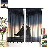 Petpany Cortinas de microfibra de Batman The Dark Knight Gotham Movie de 107 x 160 cm, ahorro de energía, apto para dormitorio