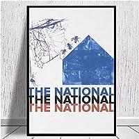 ナショナル(バンド)-スリープウェルビーストキャンバスプリントキャンバスポスタープリント家の装飾寝室の装飾40X60cmフレームレス