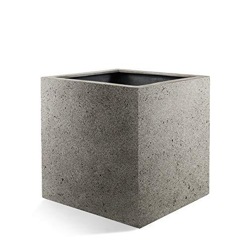 Luca Lifestyle Pflanzkübel Grigio Cube Grau Quadratisch Fiberglas *5 Jahre Garantie* - 60x60x60cm - F197