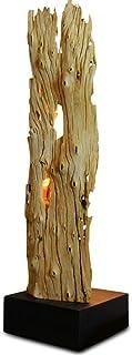 Kinaree Lampadaire SUPHANBURI - 90 cm - En bois flotté - Convient pour le salon, le couloir, la chambre à coucher ou même ...