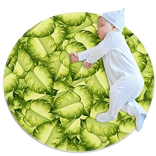 Alfombra de suelo antideslizante de lujo con hojas verdes, para salón, habitación infantil, habitación de bebé, habitación de chicas y nursery, decoración moderna para el hogar