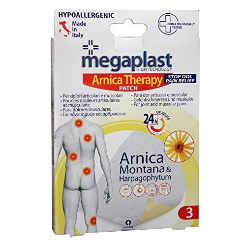 NO-NAME tola) Cerotto per dolori articolari e muscolari Arnica Megaplast PVS - MEG003 (conf. 3)