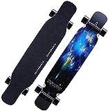 LittleNUM Monopatín de Longboard 8 Capas Cubiertas 46.5'X9.5 Pro completos Longboards Patín de...