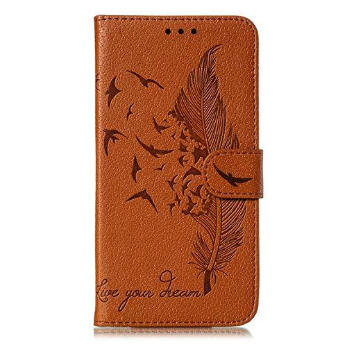 Kesv Kompatibel für Huawei Honor Play 3 Handyhülle Premium Leder Flip Schutzhülle Schlanke Brieftasche Hülle Flip Hülle Handytasche Lederhülle mit Kartenfach Etui Tasche Cover