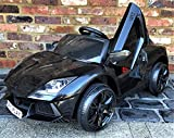 Epic Play Ltd Kids Sports Car Roadster 12V Battery Electric Ride on Car with Remote Control - Black