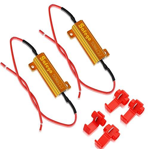 Safego 2 x 50W 6ohm Resistenze di Carico Per il LED Bulbi, Indicatore Lampeggiante di Errore Del S