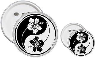 Kit de création d'épingles à motif fleur Yin-Yang