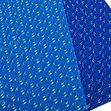 Cobertor Solar Piscinas Rectángulo Cubierta de Piscina Solar con Ojales, Bubble...