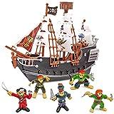 THE TWIDDLERS Barco Pirata con Figuras - Regalo para Amantes de los Piratas