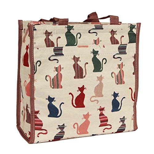 Signare Einkaufstasche (klein) City-Shopper (Gobelin Stil) Frechen Katze