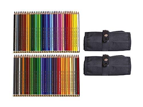72 Polycolor Künstler Farbstifte feinster Qualität von KOH-I-Noor + 2 Stiftegürtel (Schwarz)