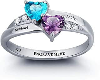 Lam Hub Fong Personalized Mothers Rings for Mom Mothers Simulate Birthstones Rings Wedding...
