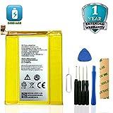 HDCKU Replacement Battery for ZTE ZMax Pro Z981(MetroPCS &T-Mobile), Grand X MAX 2 Z988 Li3934T44P8H876744 Adhesive Tool