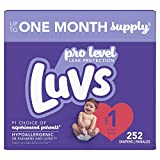 Diapers Newborn/Size 1 (8-14 lb), 252 Count - Luvs Ultra Leakguards...