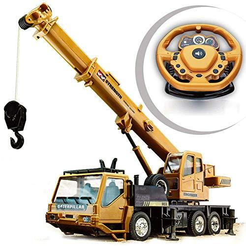 Moerc Material aleación de Control Remoto del Carro de Descarga Modelo Grande de la niveladora Camiones grúa Fuerte Poder Exterior grúa sobre orugas excavadoras Excavadora eléctrico RC