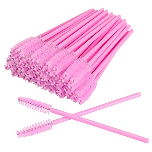 AKStore 100 PCS Disposable Eyelash Brushes Mascara Wands Eye Lash Eyebrow Applicator Cosmetic Makeup Brush Tool Kits