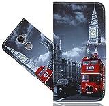 FoneExpert® Vodafone Smart N8 Handy Tasche, Wallet Case Vintage Cover Hüllen Etui Hülle Ledertasche Lederhülle Schutzhülle Für Vodafone Smart N8