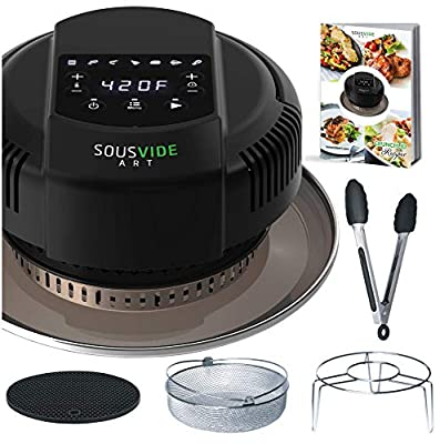 Air Fryer Lid for Instant Pot 6 Qt or 8 Qt Pressure Cooker - Crunch Lid - for Air Fryer Cooking - Extra Accessories are included - Fits for Electric Pressure Cooker and Metal Pot, 1000W, 120V