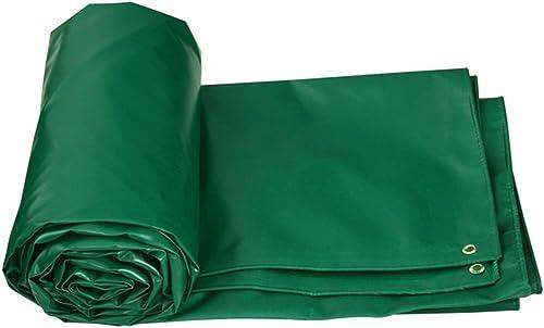 Baches Camion de bache de prougeection imperméable à la poussière 520g   m2 - Prougeection UV - épaisseur 0.5mm, options de taille 8 (vert) Couverture de piscine (taille   5MX4M)