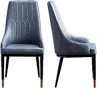 Sillas Juego Decorativas tapizadas para Restaurante Juego de 2 sillones de Poliuretano Cocina ergonómicamente Resistentes con Respaldo Alto con Patas Protección de la Tapa del pie