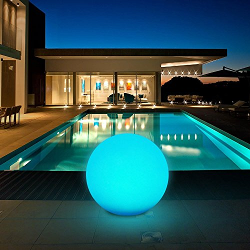 Luz Solar Exterior, 8 Colores Ajustables IP67 Impermeable Luz Solar Exterior Jardin, LED Exterior Solar (Diámetro: 30cm) para Jardín, Patio, Piscina, Césped