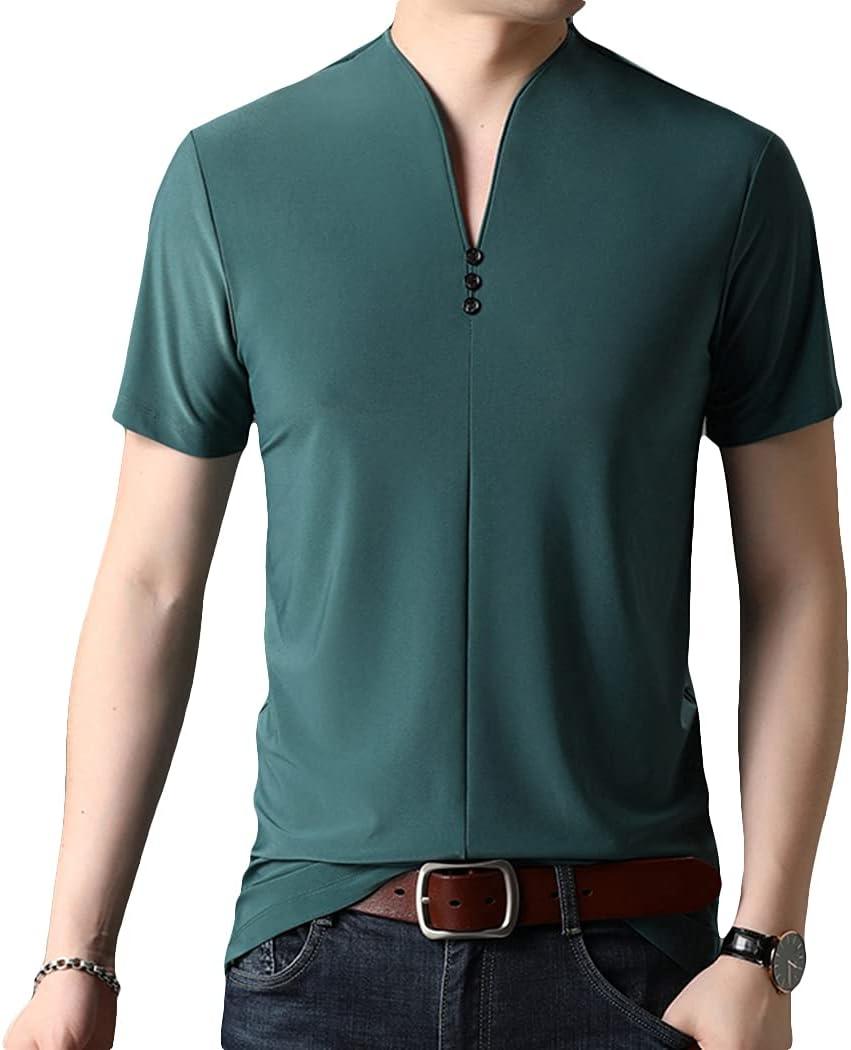 Lnrueg Washable Quantity limited Lightweight Slim Jersey Shirt Men Max 47% OFF Bre Simple Tee