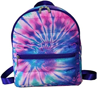 Top Trenz Inc Mini Backpacks or DayBags (Tie Dye Puffer Ice)