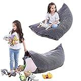Kuscheltier Aufbewahrung Sitzsack Kinder Spielzeug Stofftier Aufbewahrung Sitzsack faltbar extra große Tasche Streifen Stuhl Sofa für Kinder