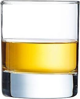 Arcoroc Islande Whisky Glass, Transparent, 200 ml, Pack of 6