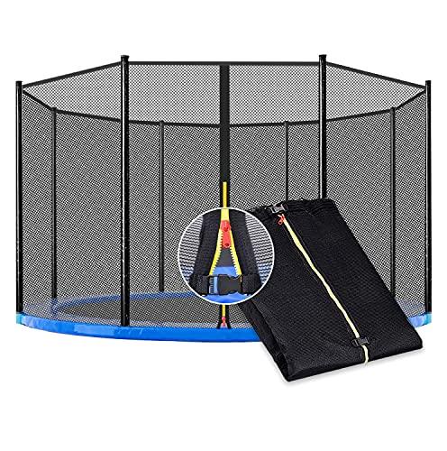Trampolin Netz Sicherheitsnetz Ersatznetz, Ø 153cm 183cm 244cm 305cm 366cm 430cm 488cm Trampolin Ersatzteile Netz für 6/8/12 Stangen Gartentrampolin