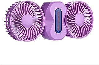 SHANGRUIYUAN-Mini Fan Multifunction Portable Fan Rechargeable Battery 2 Motors Fans Mini USB Desk Fan Electric Fan with 5 Blades (Color : Purple)