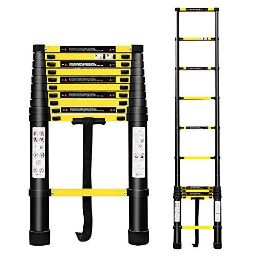 Hengda 3.2M Escalera Telescópica Multiusos de Aluminio Portátil Escalera Multifunción, Extensible, 11...