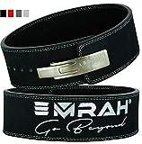 EMRAH Pro Buff Hide Cinturón de Levantamiento de Pesas para Hombres y Mujeres   Durable Cómodo (Negro, XL)