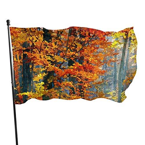 Ahdyr Lustige Flagge skandinavische Katze Polyester Flagge Garten Dekor langlebig lichtbeständig 3 x 5 Fuß Flagge mit Messing Ösen3