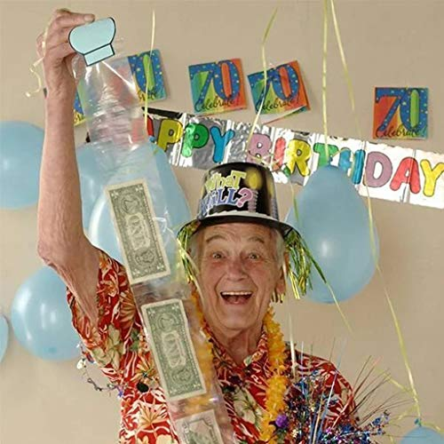FeiliandaJJ Kuchen ATM Happy Birthday Cake überraschung Geld Box Lustiger Kuchen ATM Geburtstag Festival Party Kuchen Spardose (Weiß)