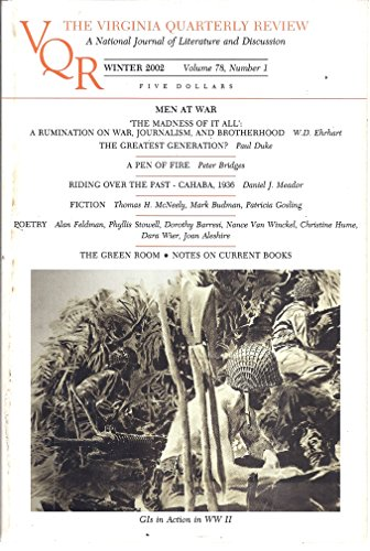 The Virginia Quarterly Review Volume 78 Number 1 Winter 2002 Cover Gis In Action In Ww Ii