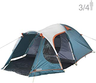 NTK INDY GT 3 to 4 Person 12 by 7 Foot Outdoor Dome Family Camping Tent 100% Waterproof 2500mm, European Design, Easy Assembly, Durable Fabric Full Coverage Rain fly - Micro Mosquito Mesh.