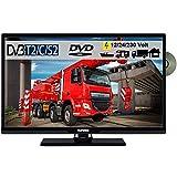 Telefunken T24X740 MOBIL DVD TV 24' Zoll, DVB/S/S2/T2/C USB 12V 24 Volt 230 Volt inkl. Spannungswandler