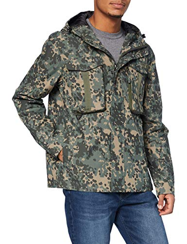 Superdry Dress Code Cagoule Giacca, Verde (Leopard Camo 3bw), S Uomo