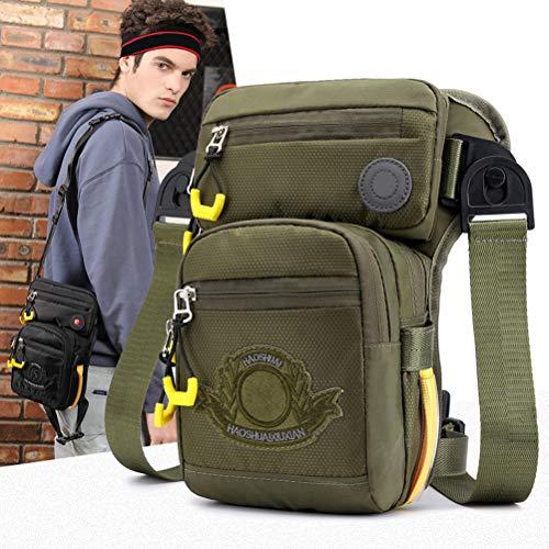 KiMiLIKE Piernas de hombre, multifunción, muslo, puf, lateral, herramientas de trabajo, bolsa impermeable para senderismo, deportes y moto