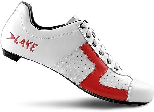 Lake CX1 Nylon Road zapatos blanco rojo