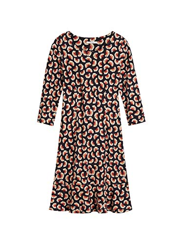 Sandwich Damen Kleid mit Volantsaum